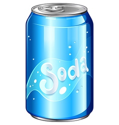 A can of soda vector image
