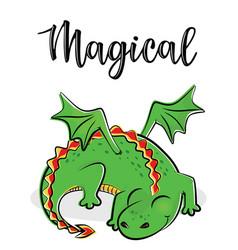 A magical cute dragon vector