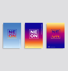 Abstract design template with gradient background vector