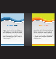 abstract flyer template design with wave vector image