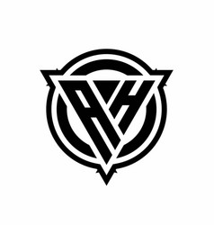 Ah logo with triangle shape and circle vector