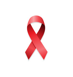 aids awareness red ribbon world aids day vector image