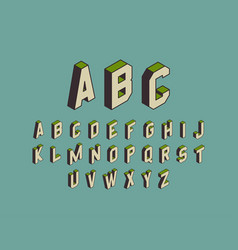 alphabet set 3d design element vector image