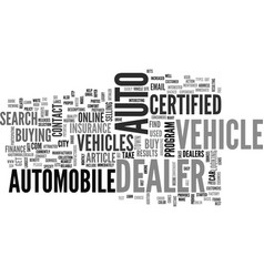 Auto dealer in you city and town text word cloud vector