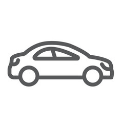 auto trip line icon automobile and tourism car vector image