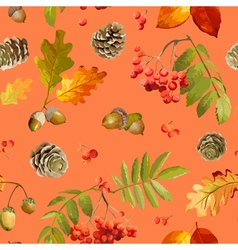 Autumn Leaves Background - Seamless Pattern vector