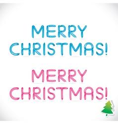 Balloon Merry Christmas Phrase vector image