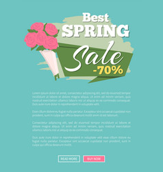 Best spring sale discounts and offers website vector