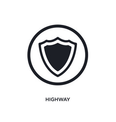 Black highway isolated icon simple element from vector
