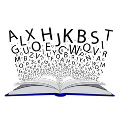 Book letters vector
