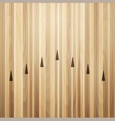 Bowling street wooden floor alley vector