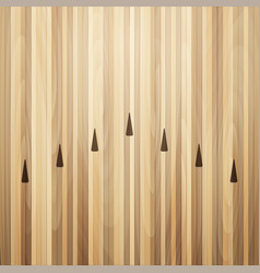 Bowling street wooden floor bowling alley vector