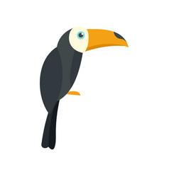 Brazilian toucan icon flat style vector