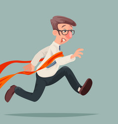 businessman happy winner runner crosses marathon vector image