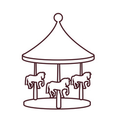 carousel of amusement park vector image