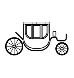 carriage it is black icon vector image