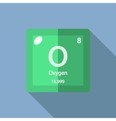 Chemical element Oxygen Flat vector image