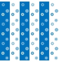 Christmas white and blue snowflakes seamless vector image