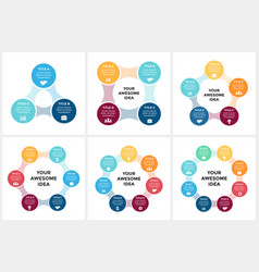 Circle arrows metaball infographic cycle vector