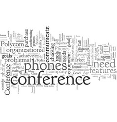 conference phones connect your business vector image