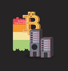 cryptocurrency concept design vector image