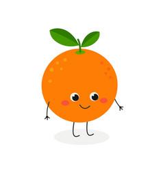 cute cartoon orange vector image