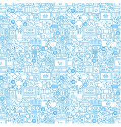 Cyber monday seamless pattern vector