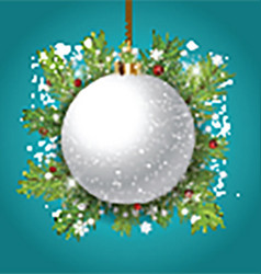Decorative Christmas bauble background vector image