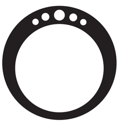 Diamond Ring Round vector image