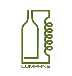 distiller and bottle logo vector image
