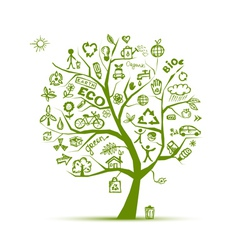 eco Green ecology tree vector image