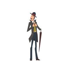 elegant victorian gentleman character walking with vector image