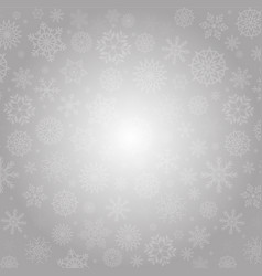 elegant winter background with fallen silver vector image