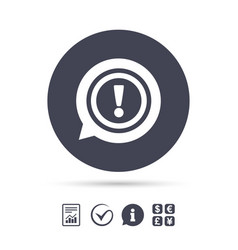 Exclamation mark sign icon attention symbol vector