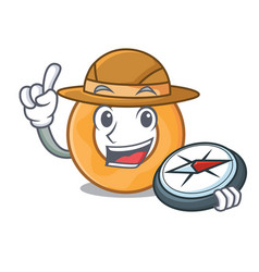 Explorer onion ring mascot cartoon vector