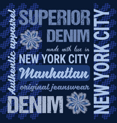 fashion jeans graphics typography artwork apparel vector image