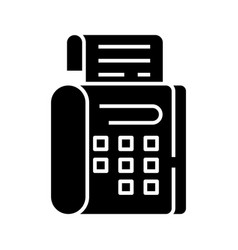 fax black icon concept flat vector image