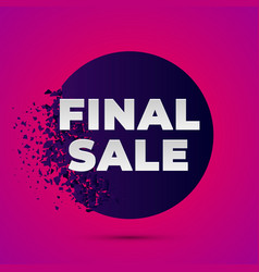 final sale explosion vector image