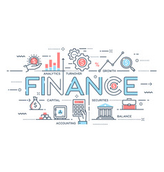 Finance investment analytics growth banking vector