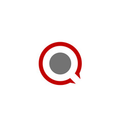 find letter q logo icon design vector image