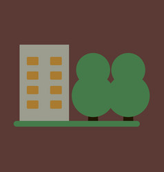 flat icon multi-storey building vector image