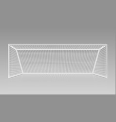 Football soccer goal realistic sports equipment vector