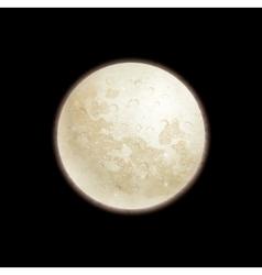 Full moon on black background vector