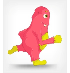Funny Monster Running vector