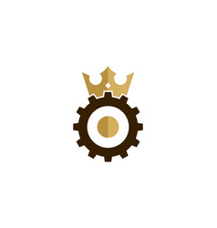 gear king logo icon design vector image