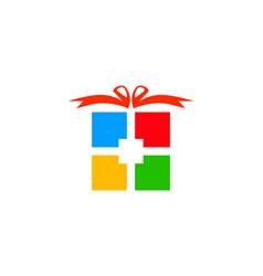 gift logo design element vector image