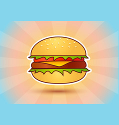 hamburger on abstract background vector image
