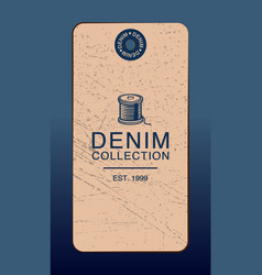hangtag for denim products vector image
