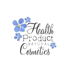 Health Product Beauty Promo Sign vector image