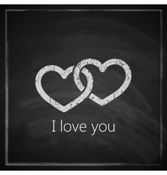 i love you abstract vintage background vector image